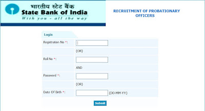 Download SBI PO Online Preliminary Exam 2015 Call Letter