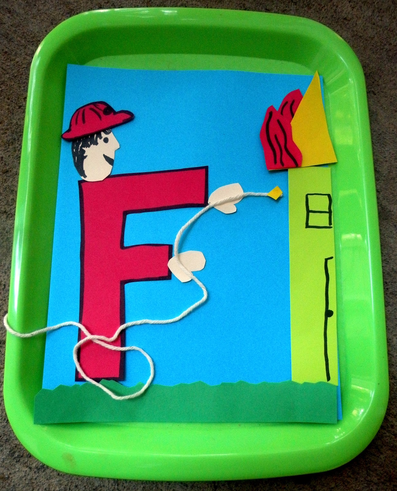 The Fantastic Five: F is for Firefighter Tot Trays