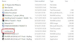 File userkey.psw Password Reset Disk