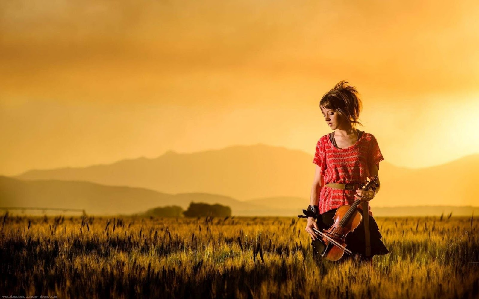 HD Lindsey Stirling Violin Girls Landscape