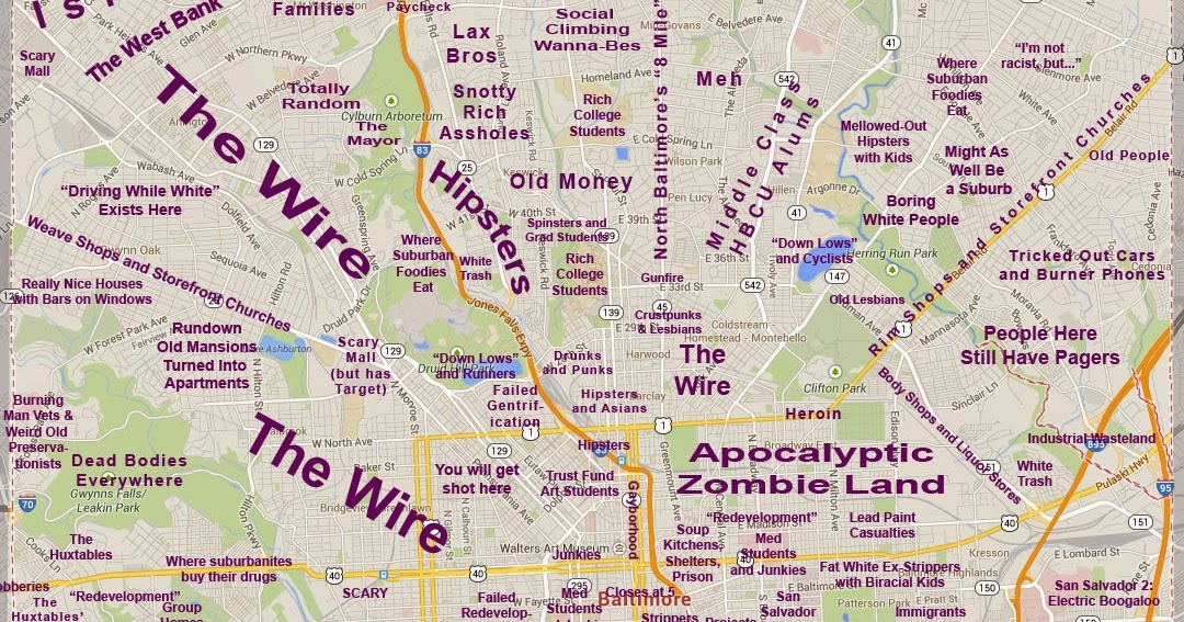 ABombazine Judgmental Map of Baltimore