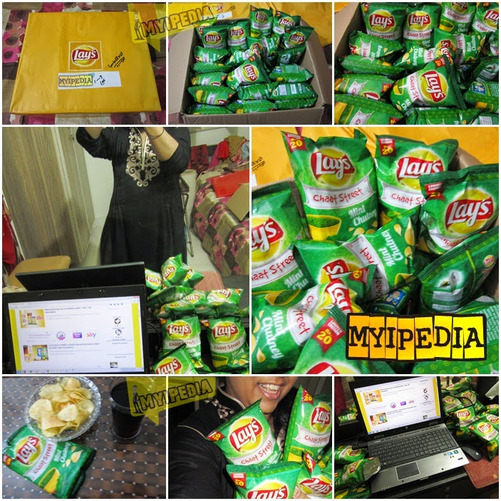 We Received Our First Goodies From Lay's chaat street Mint chatni
