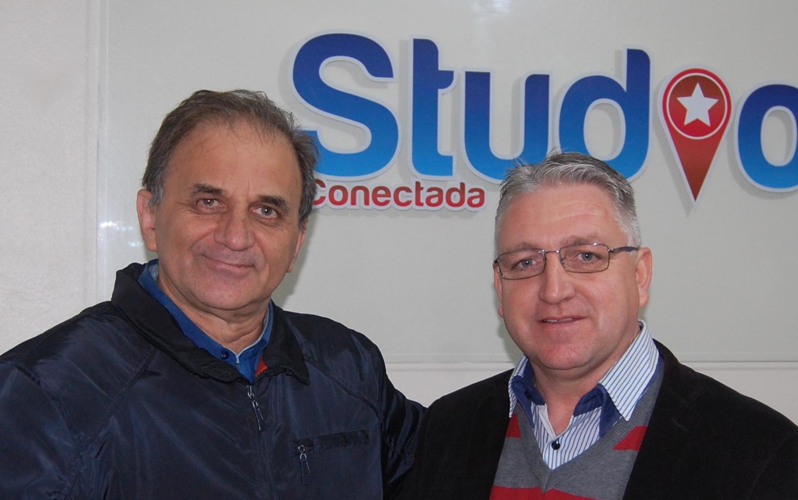 Airton Engster dos Santos e Pastor Milton Schmidt da IECLB