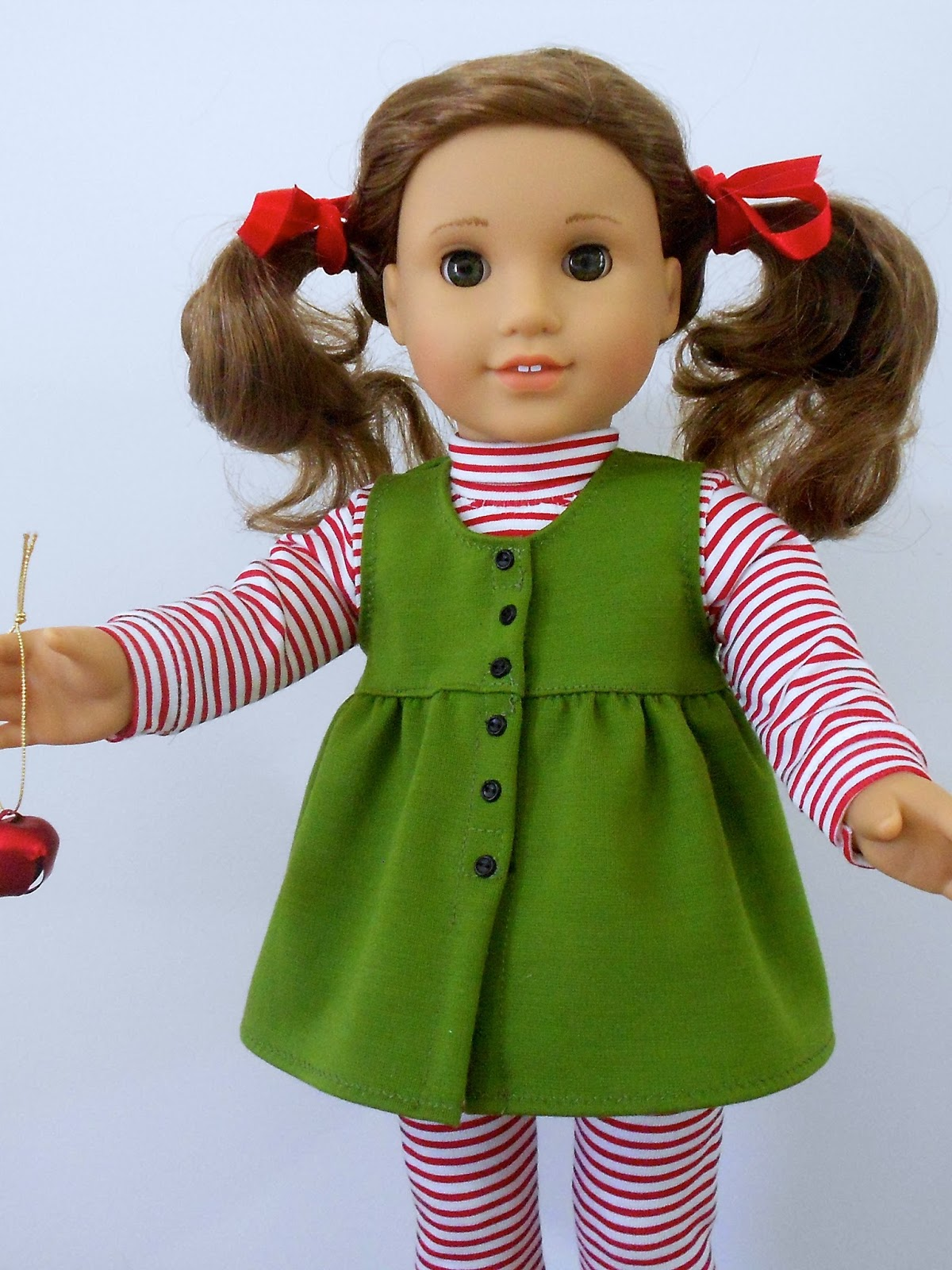 Handmade Barbie doll clothes - pink flannel pajamas | Doll