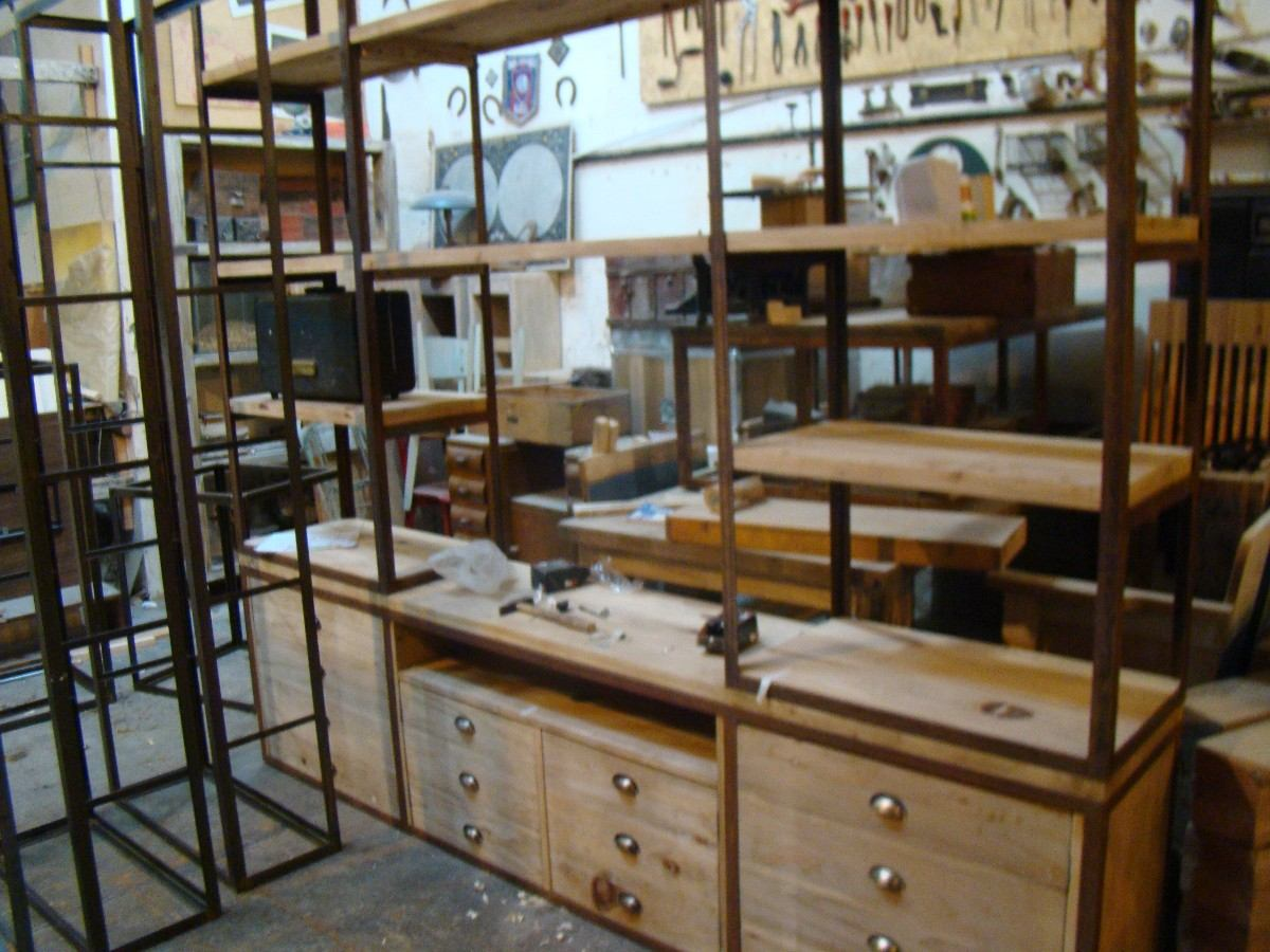 Galpón Loreto muebles Bibliotecas