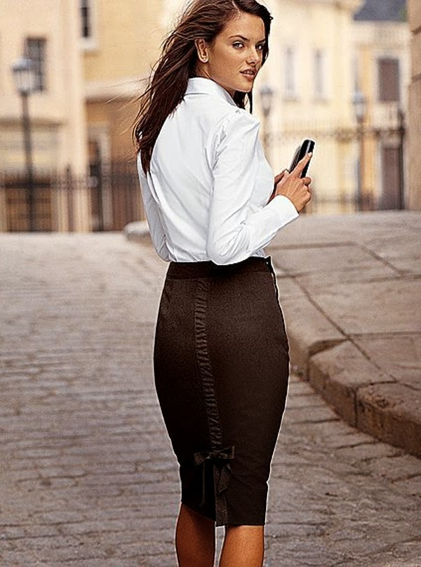 Adorable trendy brown skirt and white shirt for teen girls