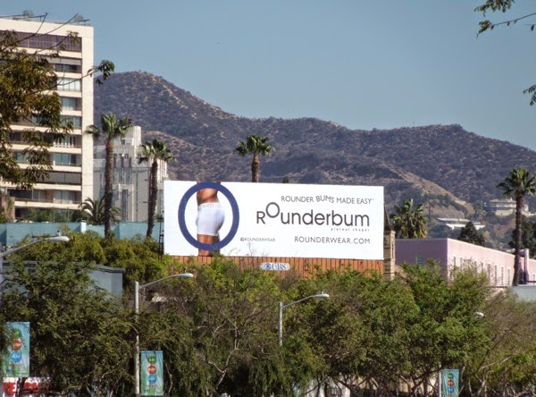 Rounderbum underwear billboard