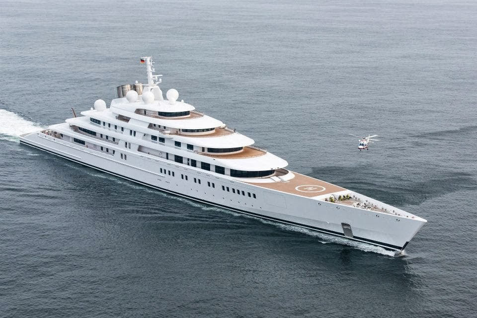 My luxury notebook azzam the largest private yacht in the world