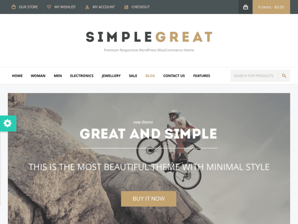 SimpleGreat - woocommerce theme