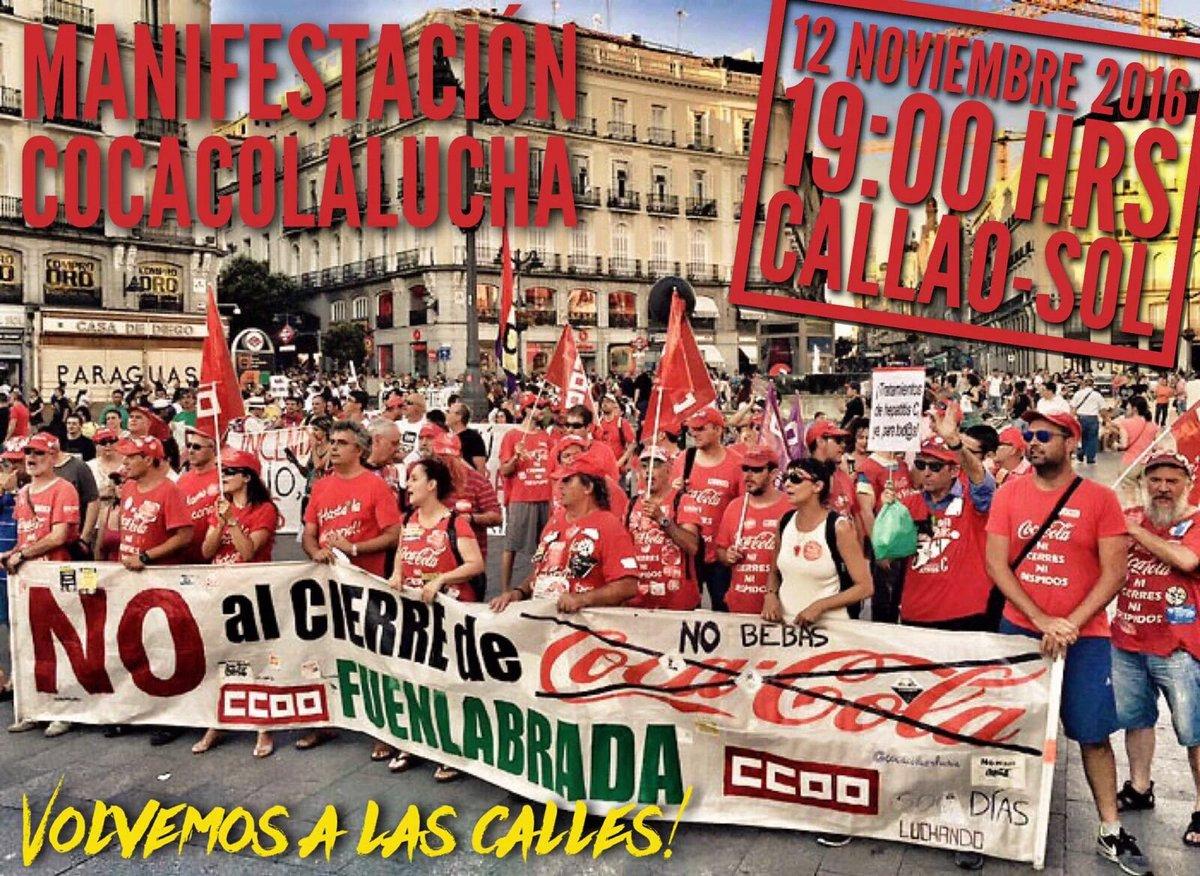 12 noviembre Trabajadores CocaCola en Lucha