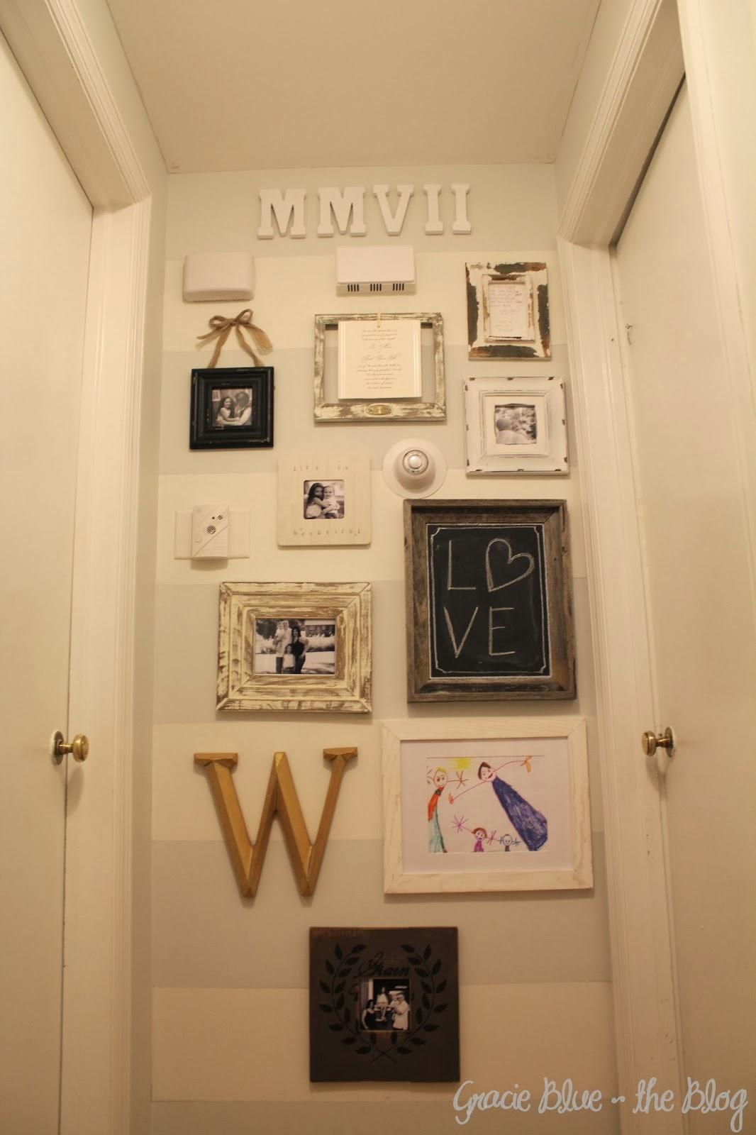 Gracie Blue : Rustic DIY Wedding Invite Display & Hallway Gallery ...