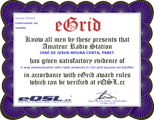 Certificado 135  Grids eQSL