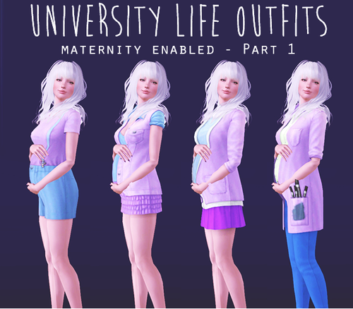My Sims 3 Blog Maternity Enabled Clothing By Lunarsteal