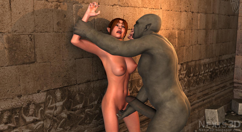 Bondage princess 3d monster orcs goblin erotic comics