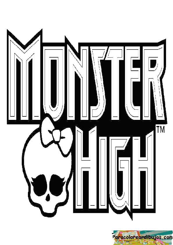 logotipo de monster high para colorear