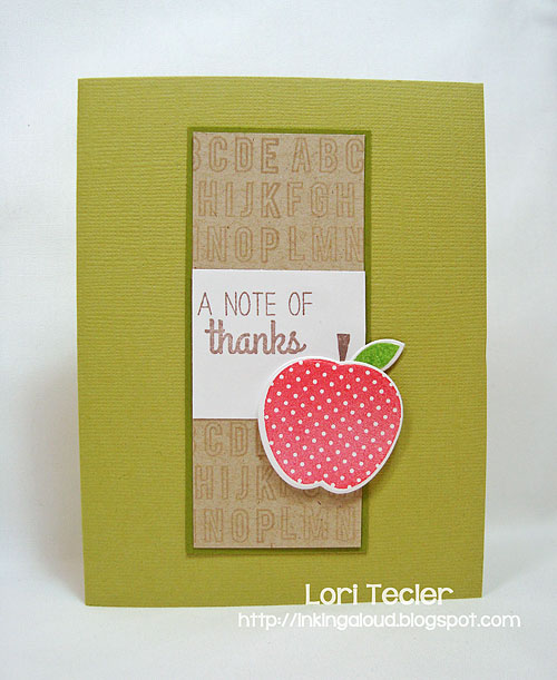 A Note of Thanks teacher thank you card-designed by Lori Tecler/Inking Aloud-stamps and dies from Reverse Confetti
