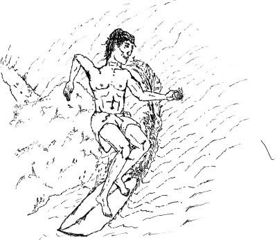 Imprimir o surfista com sua prancha legal