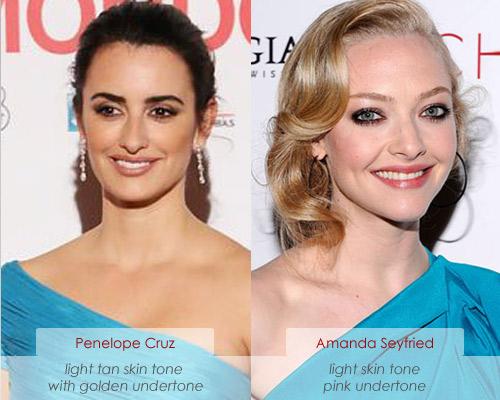 Make up charts: Cool Vs. Warm Skin Tone & Coloring: Penelope Cruz and