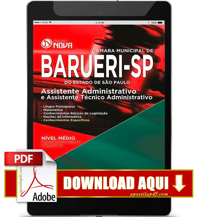 Apostila Prefeitura de Barueri Assistente Técnico Administrativo PDF Download 2016