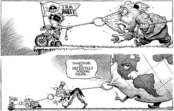 Republicans rooting for bad economy cartoons