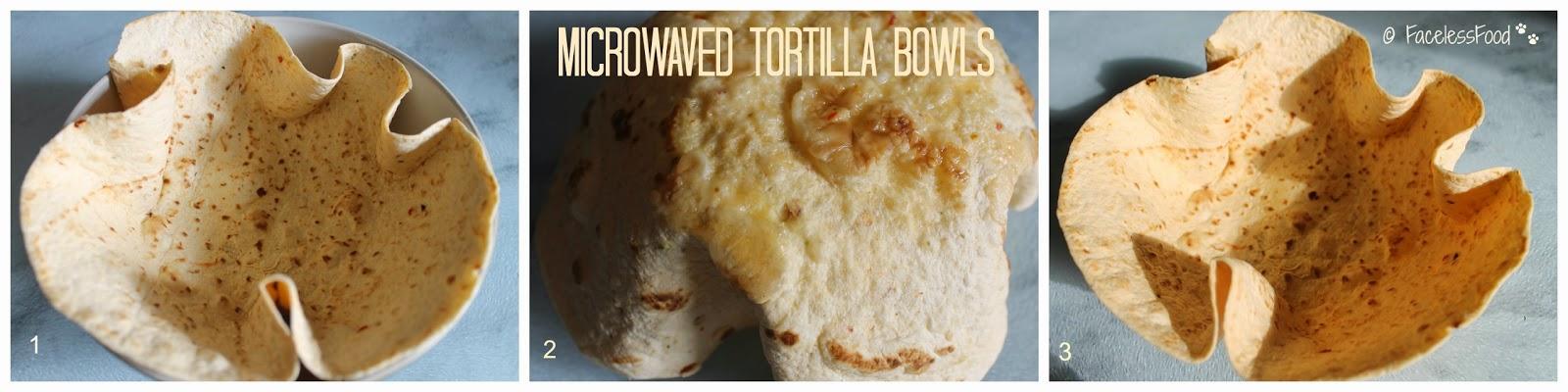 microwaved tortilla bowls