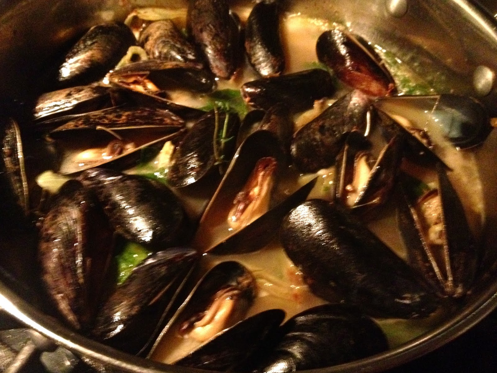 Mussels With Bacon, Fennel, And White Wine | Cake And Bourbon