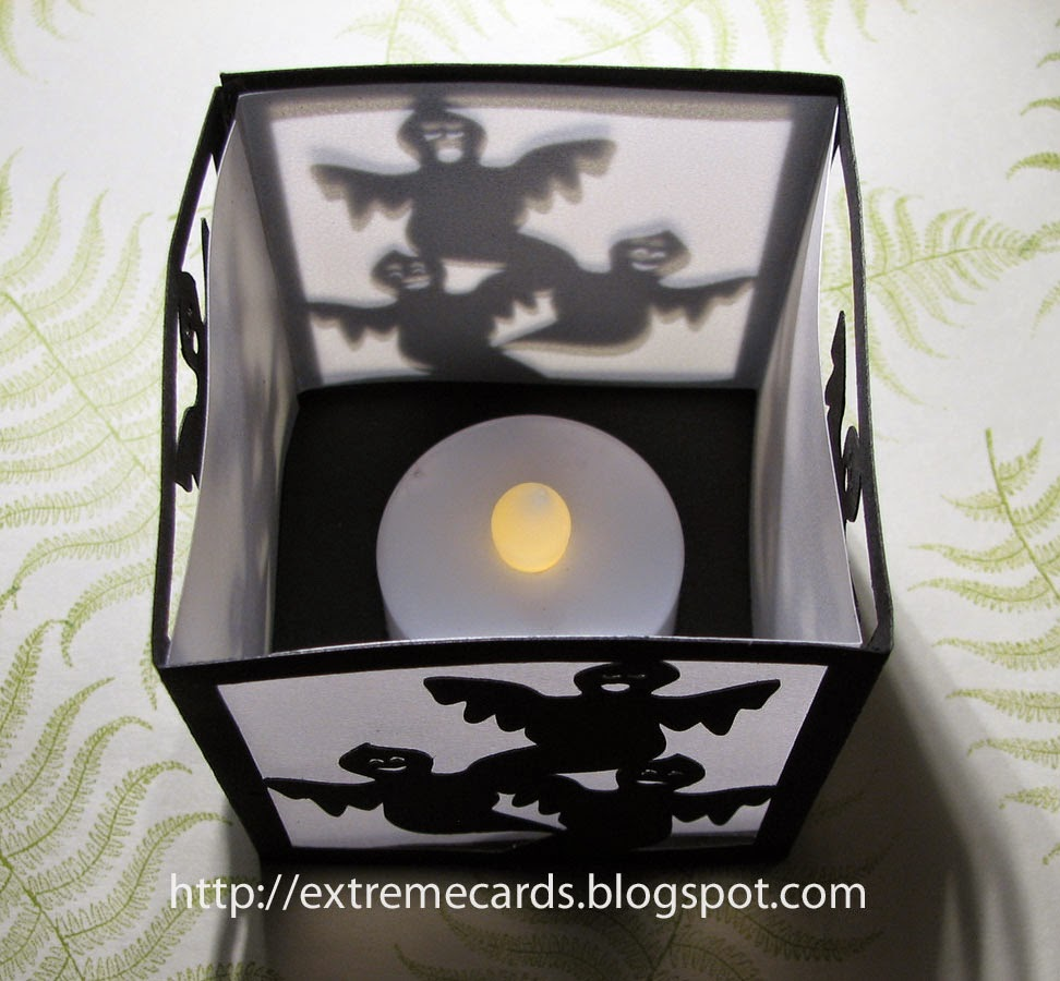 Cards cards papercrafts 2 pop up card crafts kirigami 3d cards - Tea Light Halloween Lantern