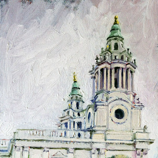 Detail of St.Paul's Cathedral by Liza Hirst
