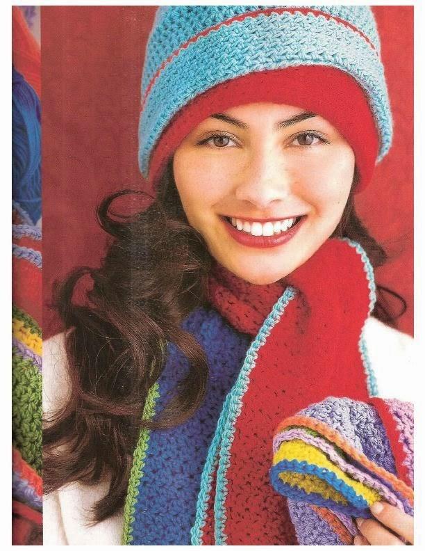 Excelente Patrones Fáciles Sombrero De Crochet Y Bufanda Componente ...