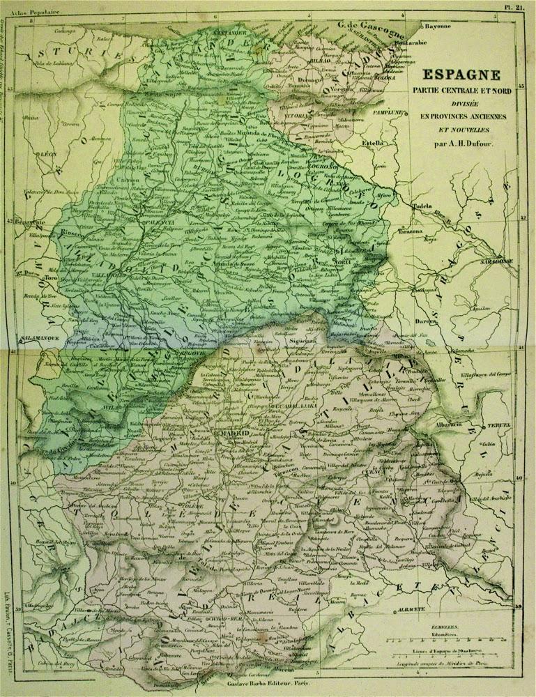 Mapa de Castilla la Vieja y la Nueva
