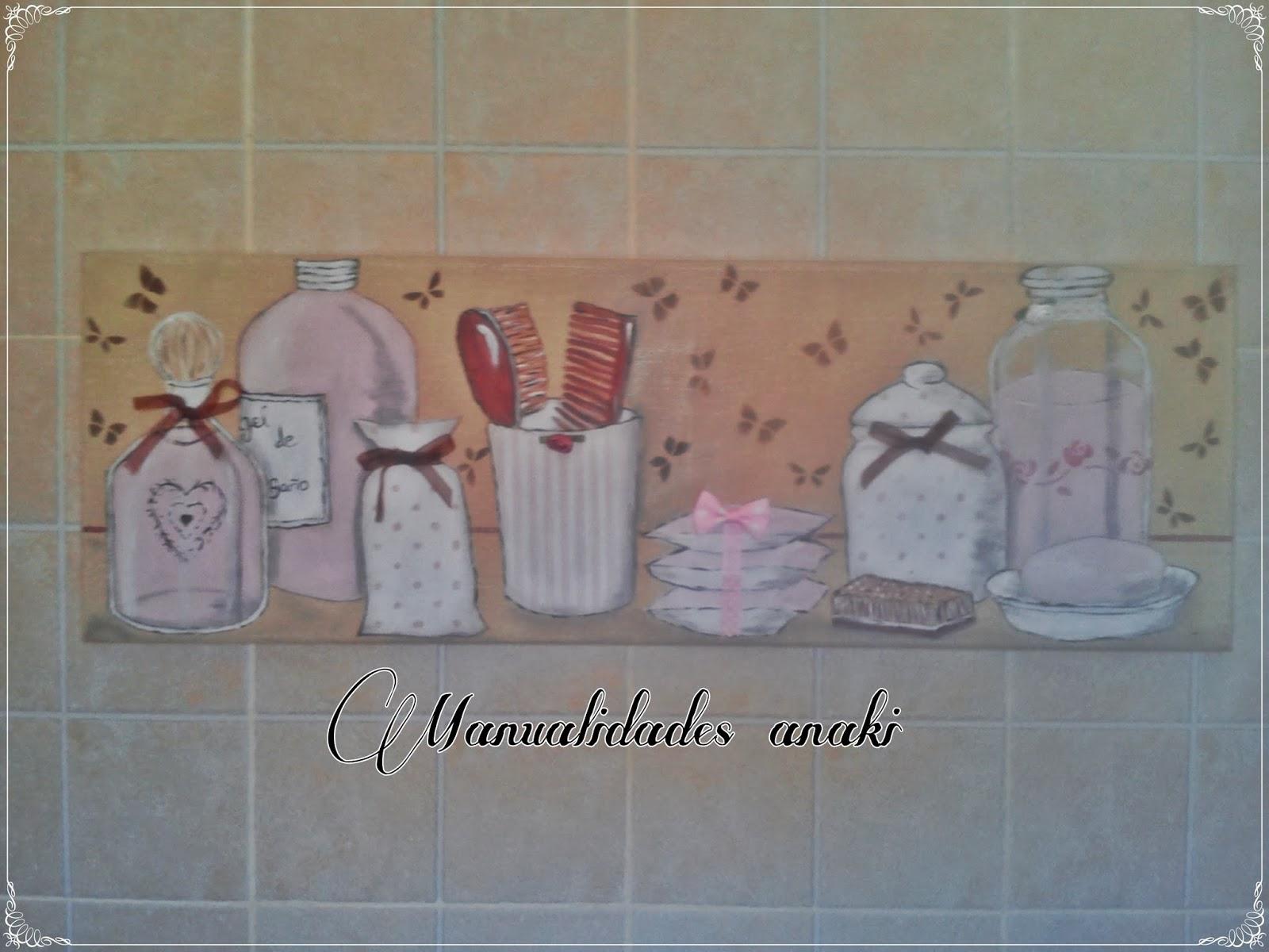 Deco anaki vintage cuadro para ba o en rosa - Laminas para cuartos de bano ...