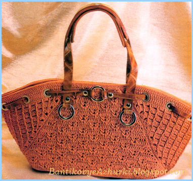 вязанная крючком сумочка