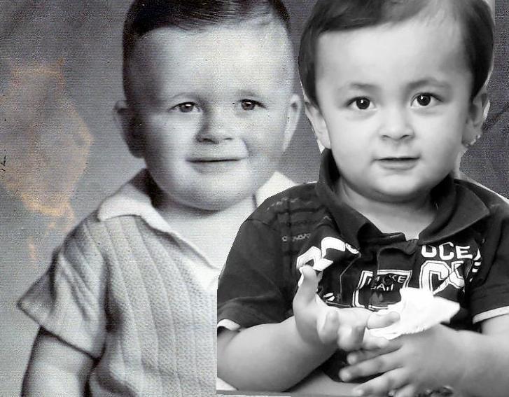 Eu em 1966 e meu filho em 2018