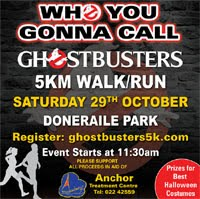 Ghostbusters 5k in Doneraile Park...Sat 29th Oct 2016