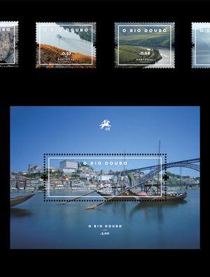 O Rio Douro merece homenagem nesta nova emissão filatelica dos Correios de Portugal
