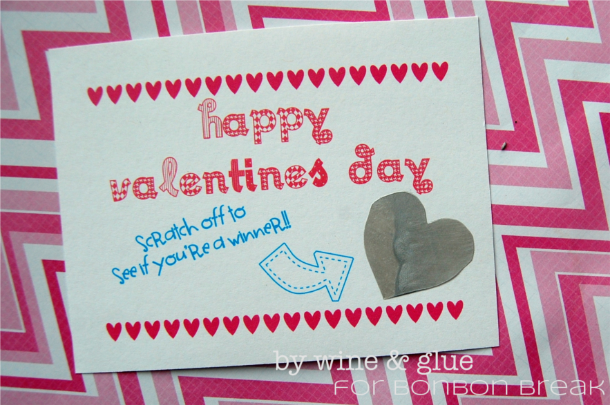 Scratch Off Valentines Day Card Lisa Longely Wine Glue – Scratch off Valentine Card
