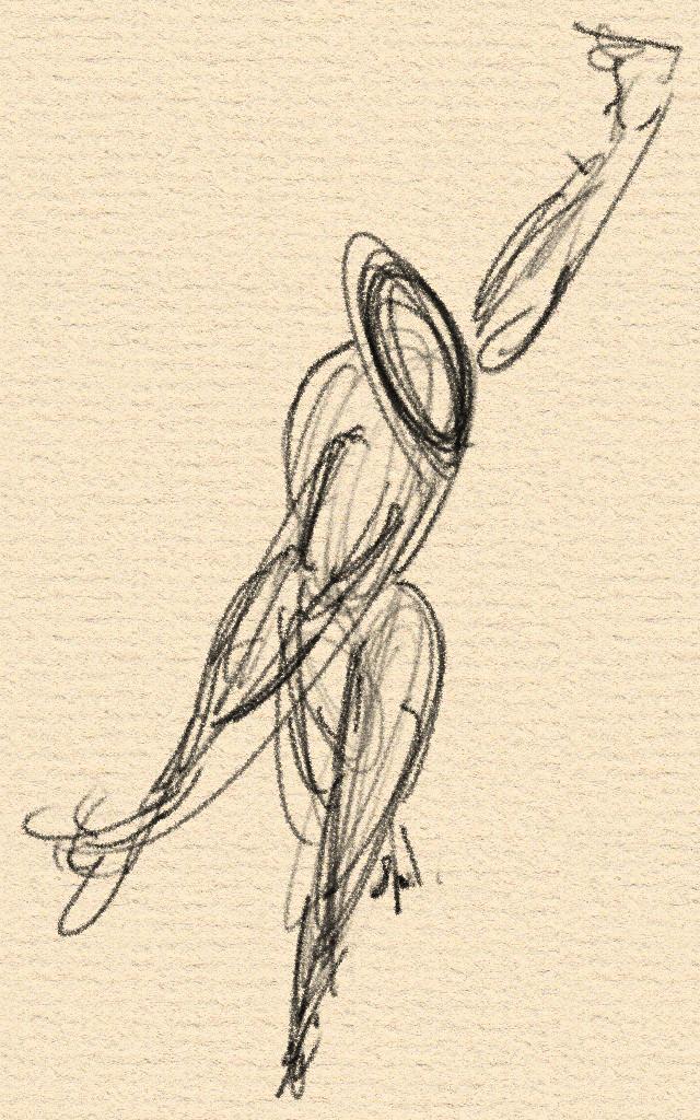 Scribble Line Gesture Drawing : Gesture drawing d