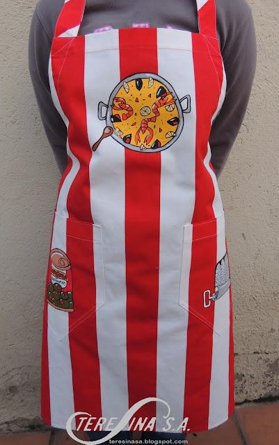 Handpaintd apron