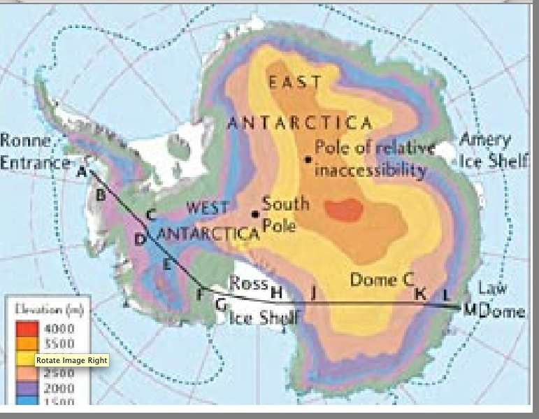 Rick Potvins Virtual Circumnavigation Of Antarctica To Decide If - Elevation map google earth