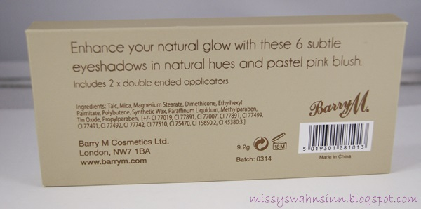 Barry M. Natural Glowpalette back
