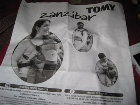 tomy zanzibar baby carrier instructions