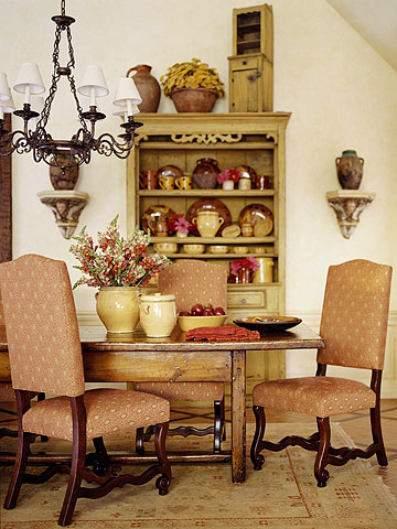 New home interior design rustic country french style - Rustic country dining room ideas ...