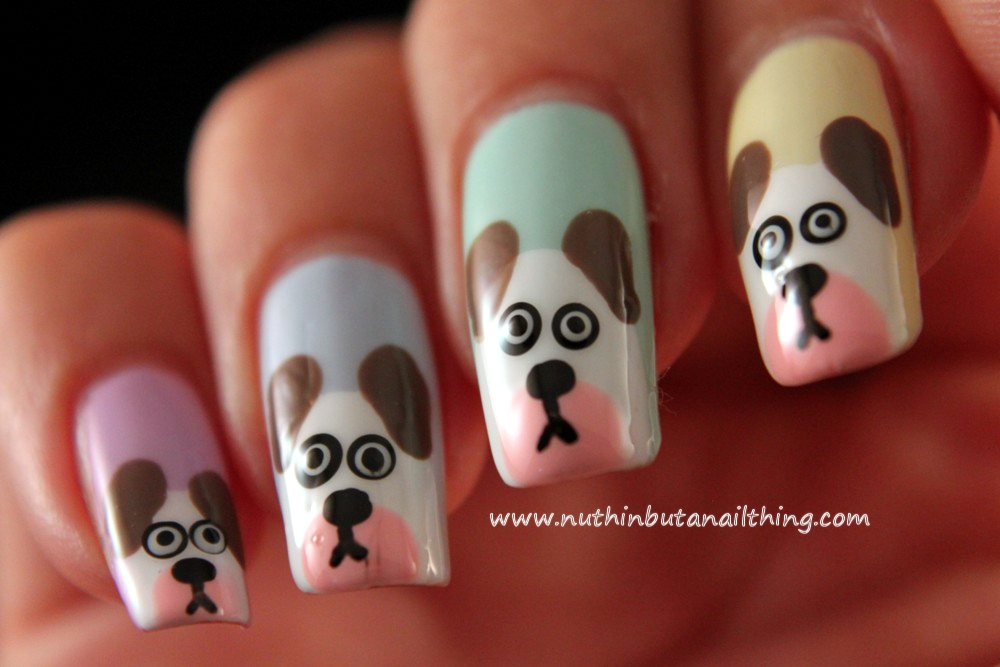 Dog nail art graham reid dog nail art tutorial nuthin but a nail thing dog prinsesfo Image collections