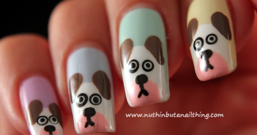 Nuthin but a nail thing dog nail art tutorial prinsesfo Image collections