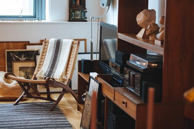 Industrial-Ethno-Design in Jersey - leichtes Einrichten der Küche und Wohnzimmer in Vintage vom Flohmarkt