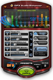 Screenshoot, Link MediaFire, Download DFX Audio Enhancer 11.108 Full Version | Mediafire