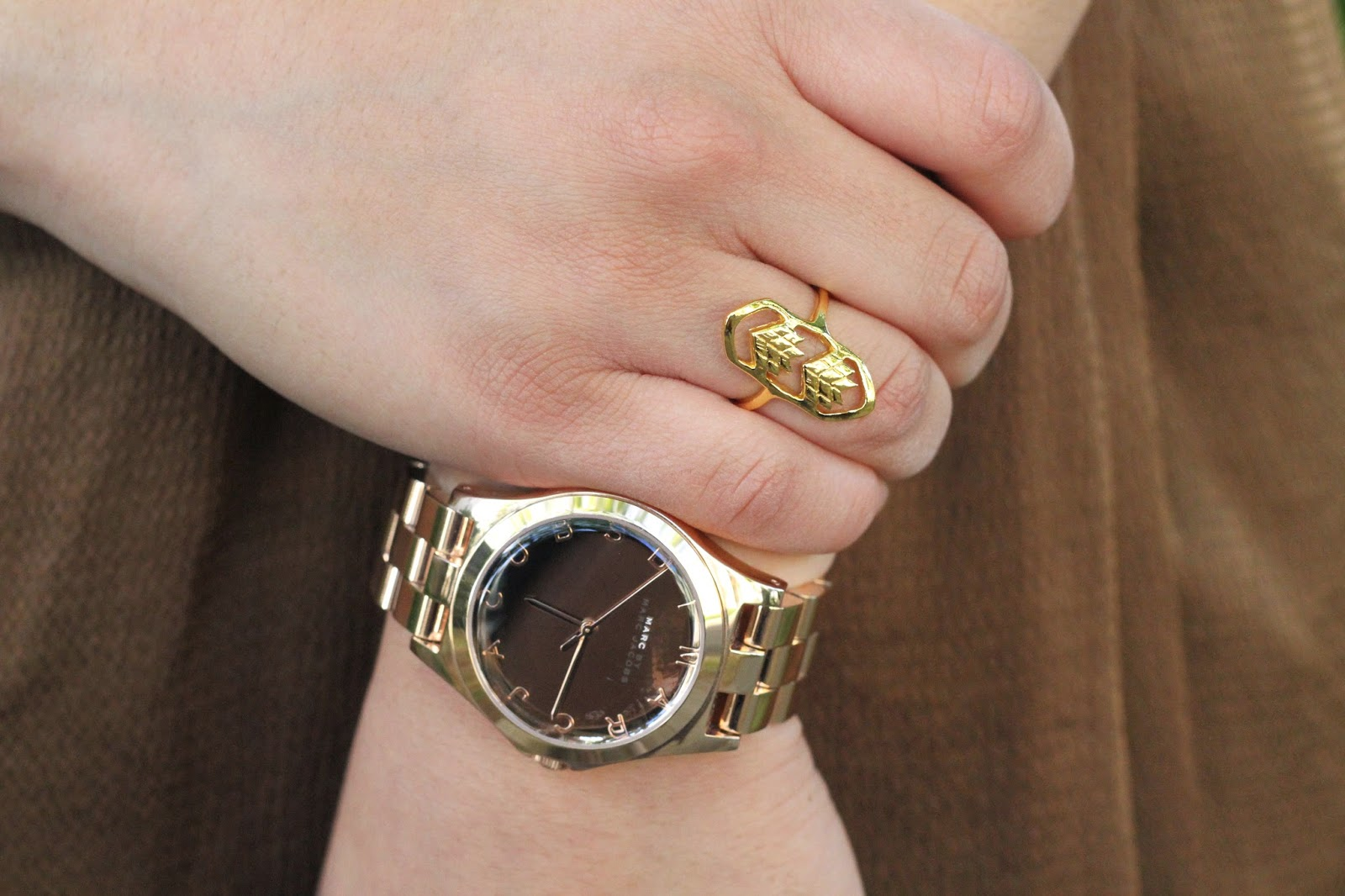 Gold Ring and Rose Gold Watch