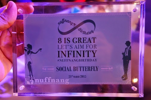 NuffNang 8irthday Social Butterfly Award Winner