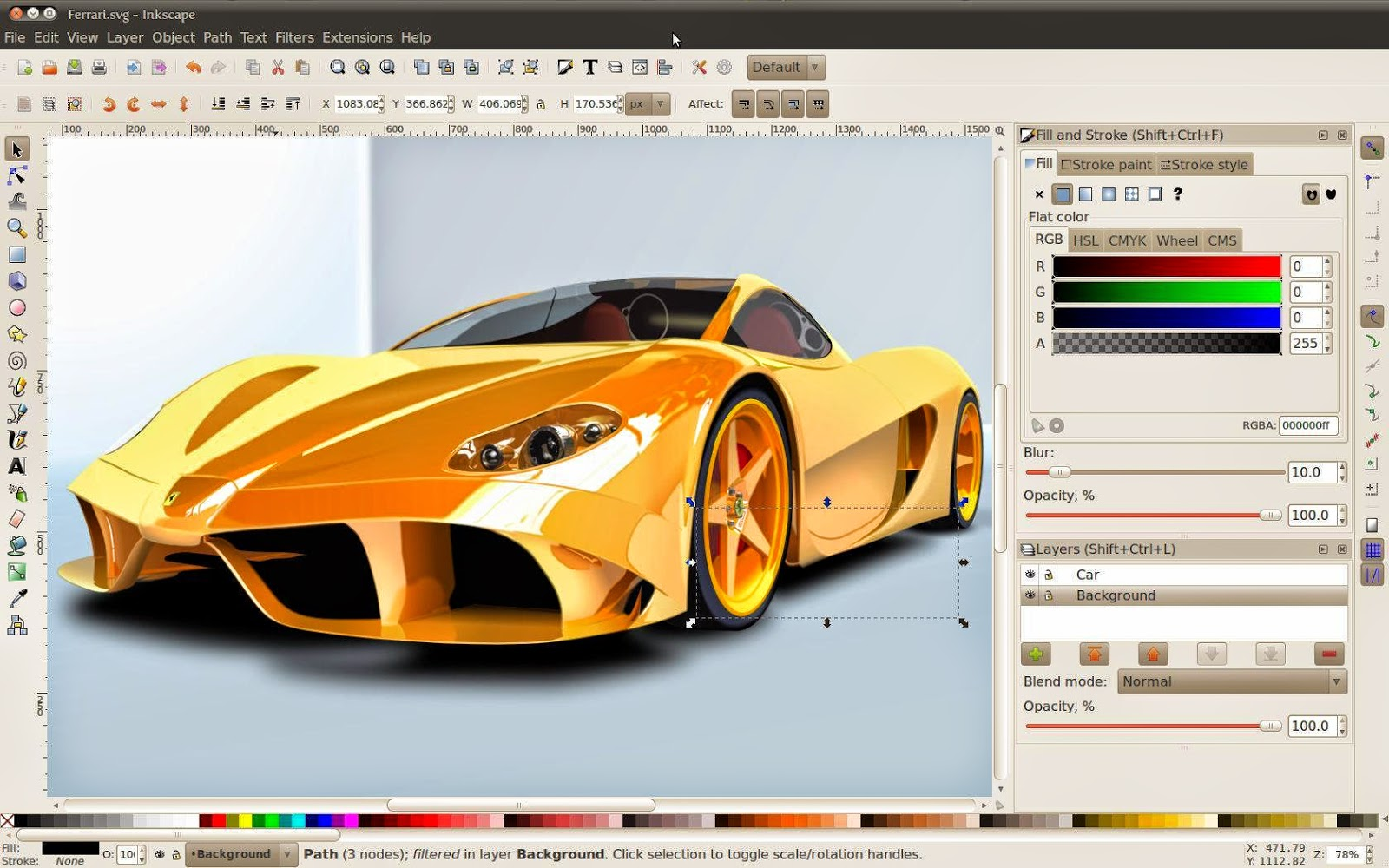 Inkscape 0.91 Final Gratis screenshot