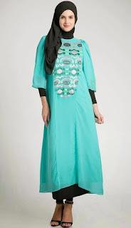 Model baju hamil muslim kombinasi hijab trendy
